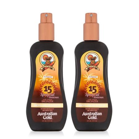 Australian Gold SPF 15 Spray Gel Sunscreen w/ Instant Bronzer, 8 FL OZ