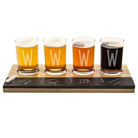 Latitude Run Metz Personalized Bamboo and Slate Tasting Flight 5.5 Oz. 6 Piece Drinkware Set - Personalized Drinkware