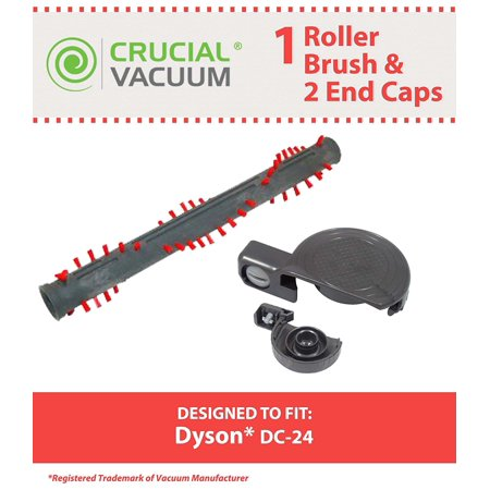 Brushroll   End Caps For Dyson Dc24 Vacuums  Compare To Dyson Part Nos  917390 02   917390 01  Designed   Engineered By Think Crucial By Crucial Vacuum