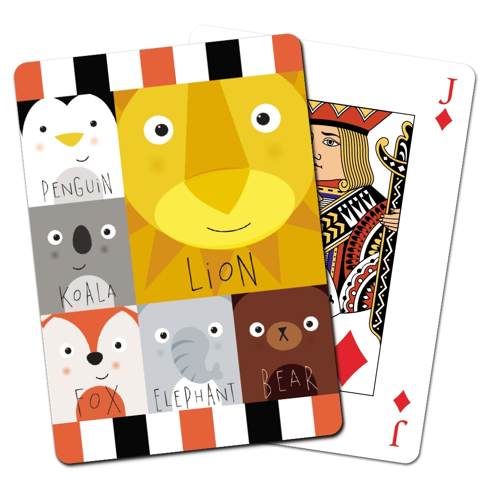 Tree-Free Greetings Zoo Combo Animoji Playing Cards -CD15048