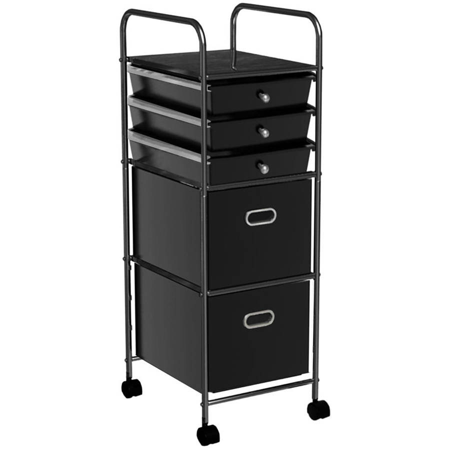 mainstays 5tier rolling cart multiple colors