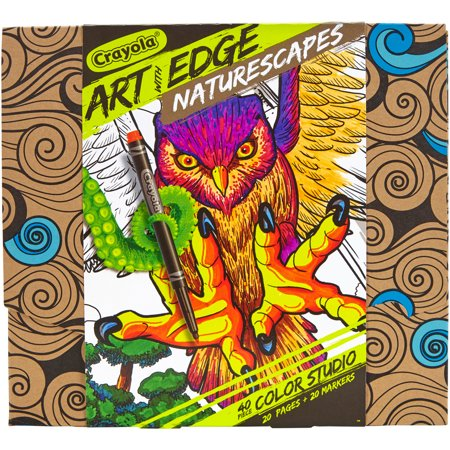 Crayola Art With Edge Coloring Book W Markers Naturescapes