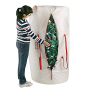 Elf Stor Premium White Holiday Christmas Tree Storage Bag Large  - Storage Bag For Christmas Tree