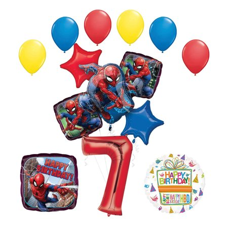 The Ultimate Spider-Man 7th Birthday Party Supplies and Balloon Decorations](Birthday Spider)