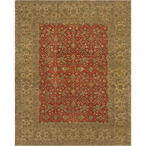 Astoria Grand Freeland Hand Knotted Wool Red Tan Area Rug Walmart Com