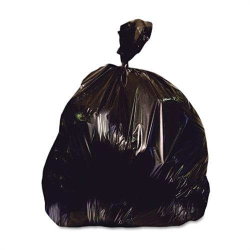 Heritage Bag Low-Density Repro Can Liner, 56 gal, 2 mil, 43 x 47, Black, 100/Carton X8647QK