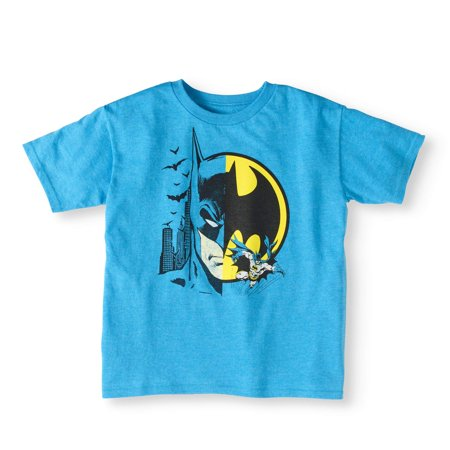 Batman Split Character T-Shirt (Little Boys & Big Boys)](Mens Batman Onsie)