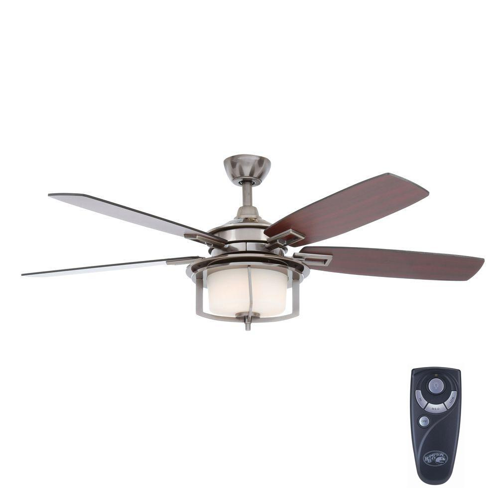Hampton Bay Devereaux II 52 In. Gunmetal Ceiling Fan