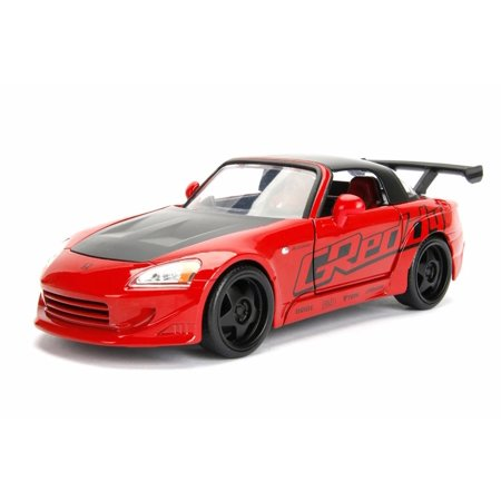 Honda Diecast Model (2001 Honda S2000 Hard Top, Red - Jada 98570WA1 - 1/24 Scale Diecast Model Toy)