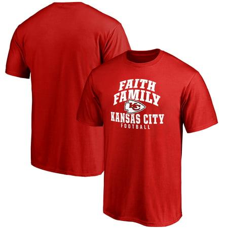 Kansas City Chiefs NFL Pro Line Faith Family T-Shirt - Red - Halloween Stores Kansas City