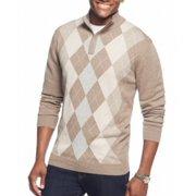 Tasso Elba NEW Mocha Heather Beige Mens Size Large L 1/2 Zip Sweater