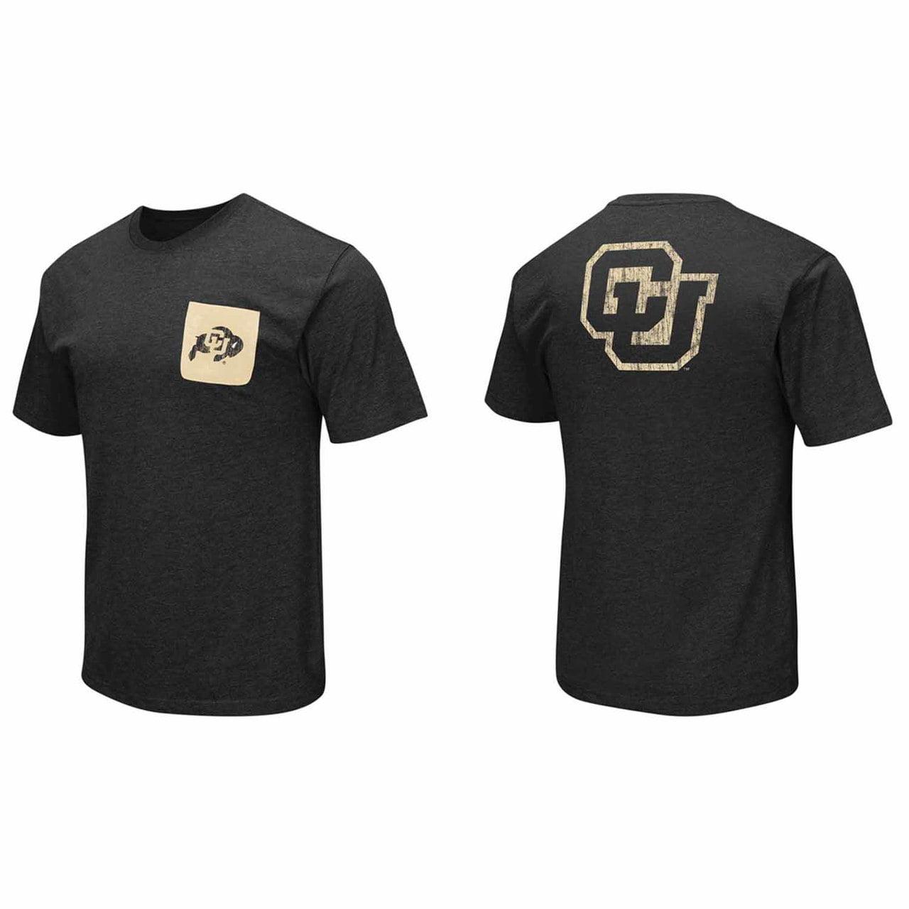 Adult Colorado Buffaloes NCAA Banya Pocket T-Shirt  - Black