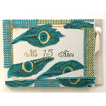 Themes For Sweet 15 (Mis Quince Anos Guest Book Quinceanera Libro De Firmas Peacock Theme Sweet 15)