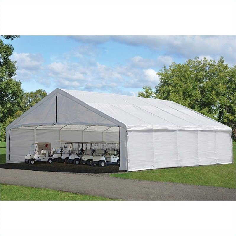 Ultra Max 30' x 30' White Industrial Canopy by ShelterLogic