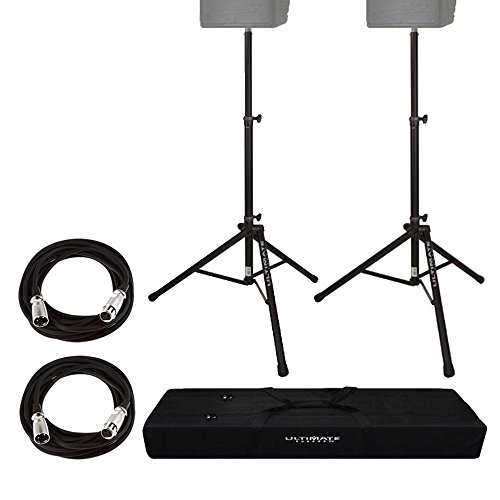 Ultimate Support Ts80b Speaker Stand Black On Stage Mic