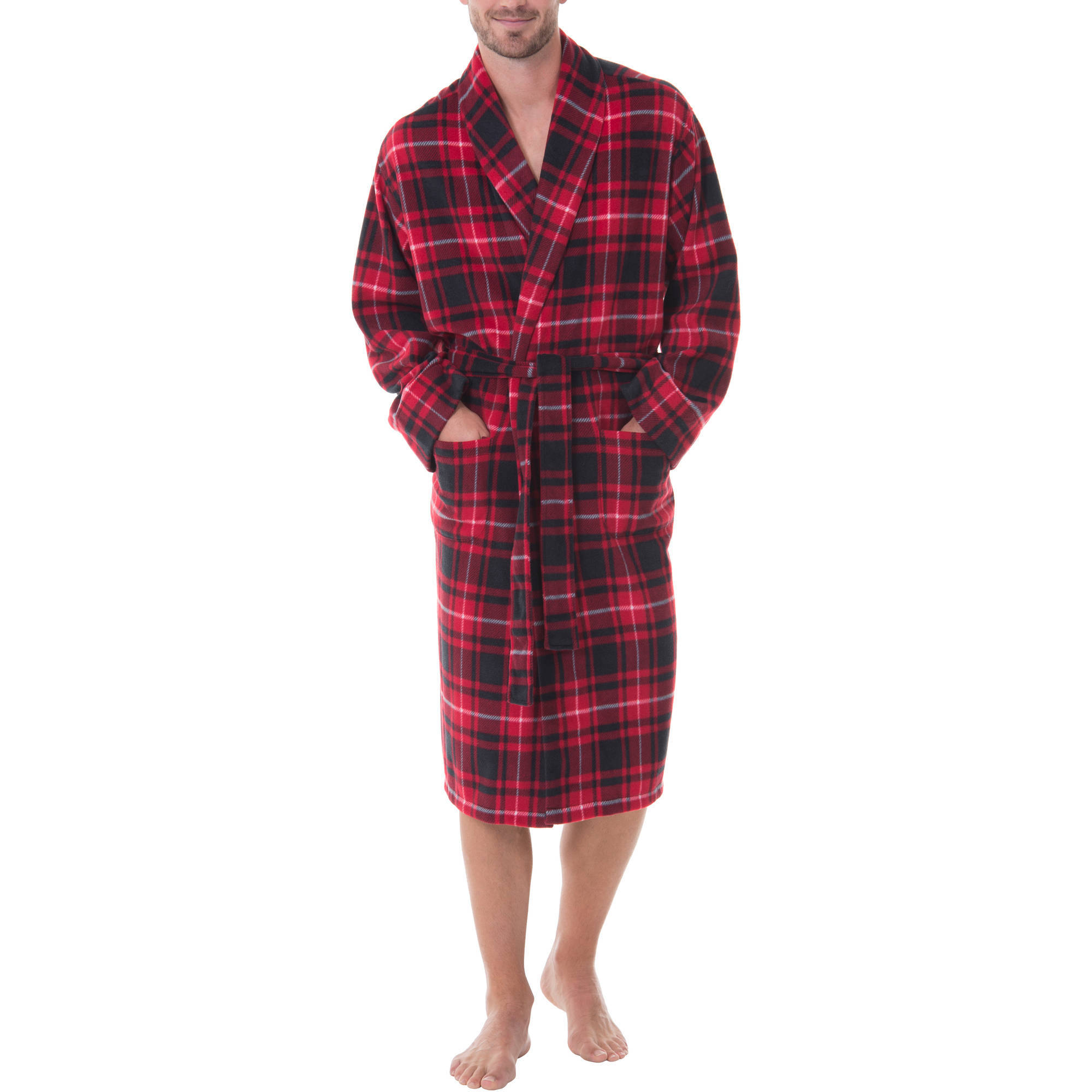 Fruit of the Loom - Men's Print Fleece Robe