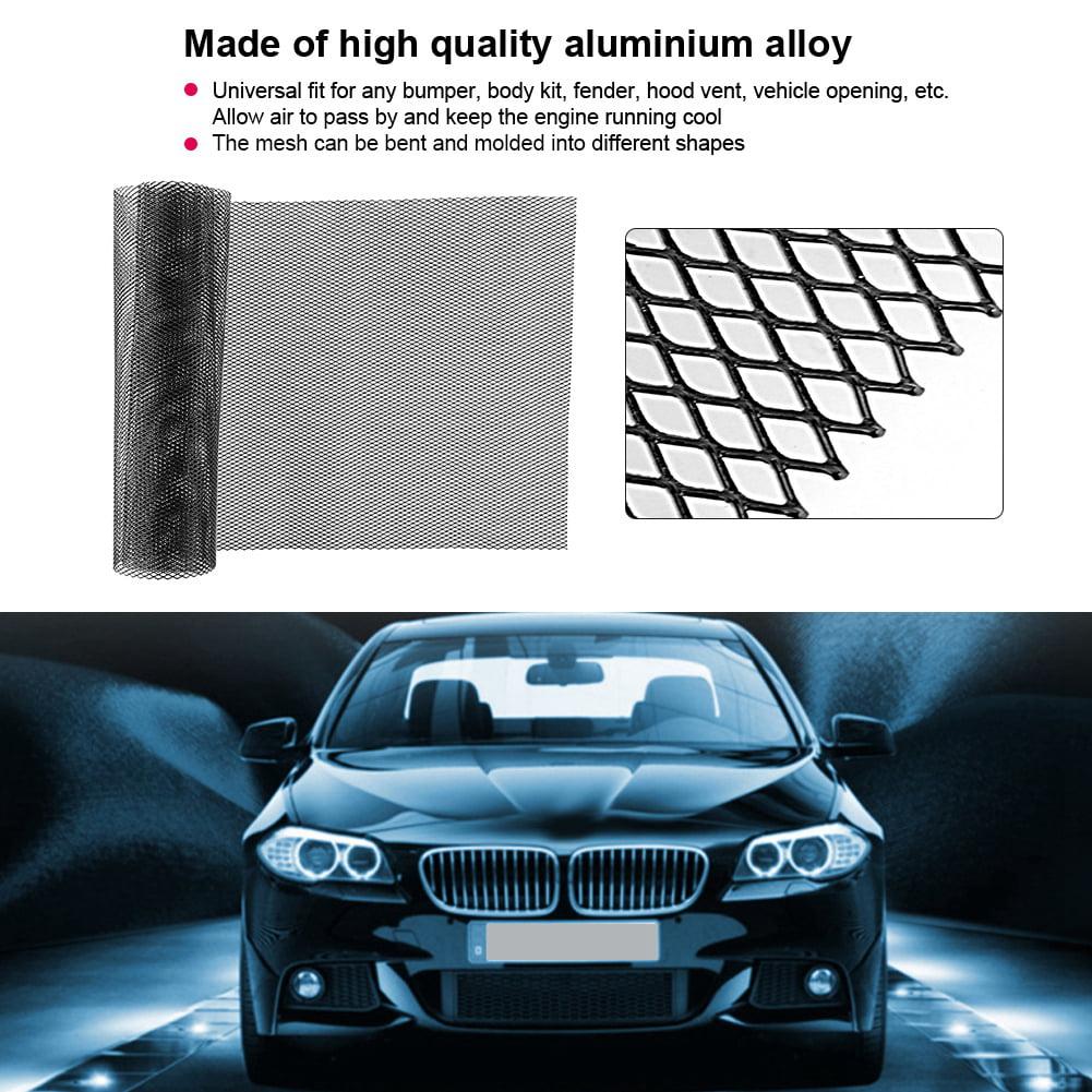 grille pare-chocs pour grill grille de carrosserie en alliage daluminium de 3x6mm grille de carrosserie Aramox Grille centrale de maille de nid dabeilles de garniture de pare-chocs