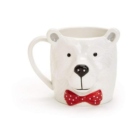 Martha Stewart Collection Ceramic Polar Bear Mug Martha Stewart Glass Mug