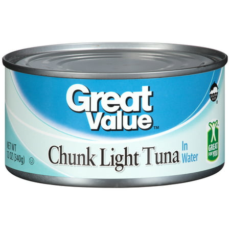 great value chunk light tuna in water 12 oz