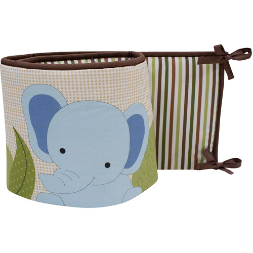 Bedtime Originals by Lambs & Ivy - Jungle Buddies Crib Bedding Bumper, Brown