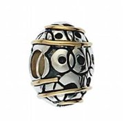 Marketplace 161026 Gold Egg Bead in Sterling Silver & 14K Yellow Gold Moress XGS-22