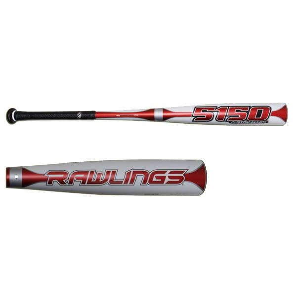 New Rawlings 5150 31 28 BBCA2 BBCOR Baseball Bat White Red by Rawlings