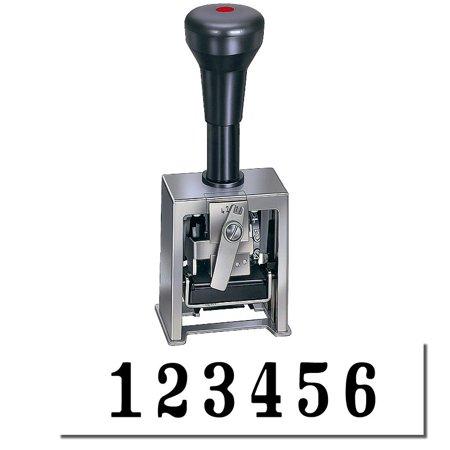6 Wheel Numbering Machine (6 Wheel Self Inking Automatic Numbering Machine Model 732 (Black Ink) )