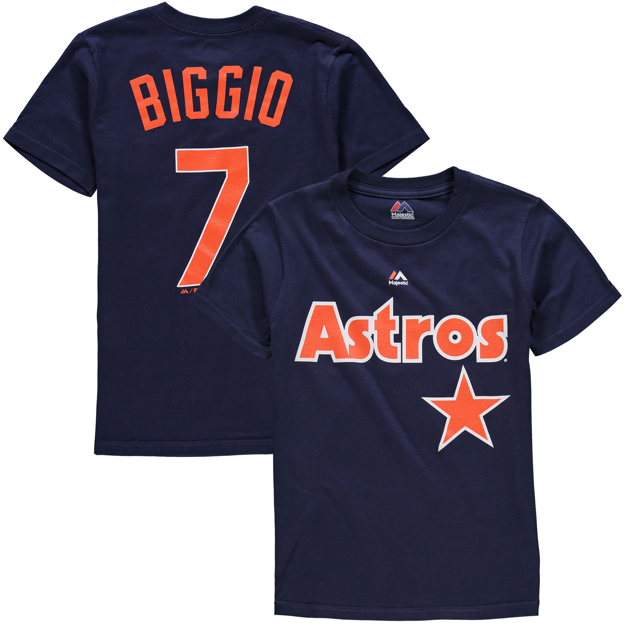 Craig Biggio Houston Astros Majestic Youth Cooperstown Name & Number T-Shirt - Navy
