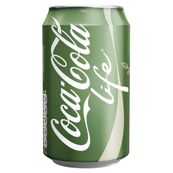 Coke Life Reduced Calorie Coca Cola with Stevia 12 Oz Cans - Pack of 24