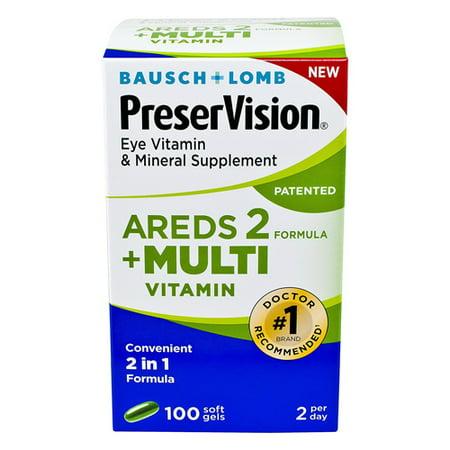Eye Multivitamin (Bausch And Lomb Preservision Areds 2 Formula Plus Multivitamin Eye Soft Gels, 100 Ea )