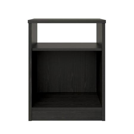 Mainstays Classic Open Shelf Nightstand, Black Oak