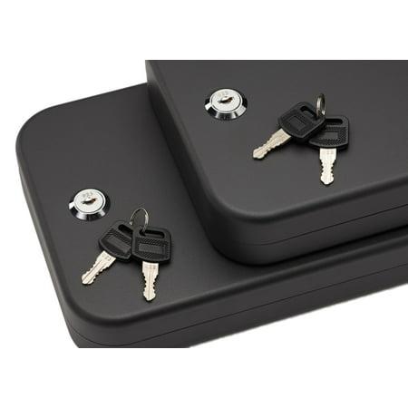"SnapSafe 75211 Lock Box 2 Pack Keyed Pistol Safe Key 10"" x 7"" x 2"" 16 Gauge Steel Black"