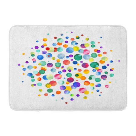 GODPOK Color Dot Watercolor Rainbow Colored Confetti Scattered Around Colorful Party Abstract Brush Rug Doormat Bath Mat 23.6x15.7 (Hog Heaven Confetti Mat)
