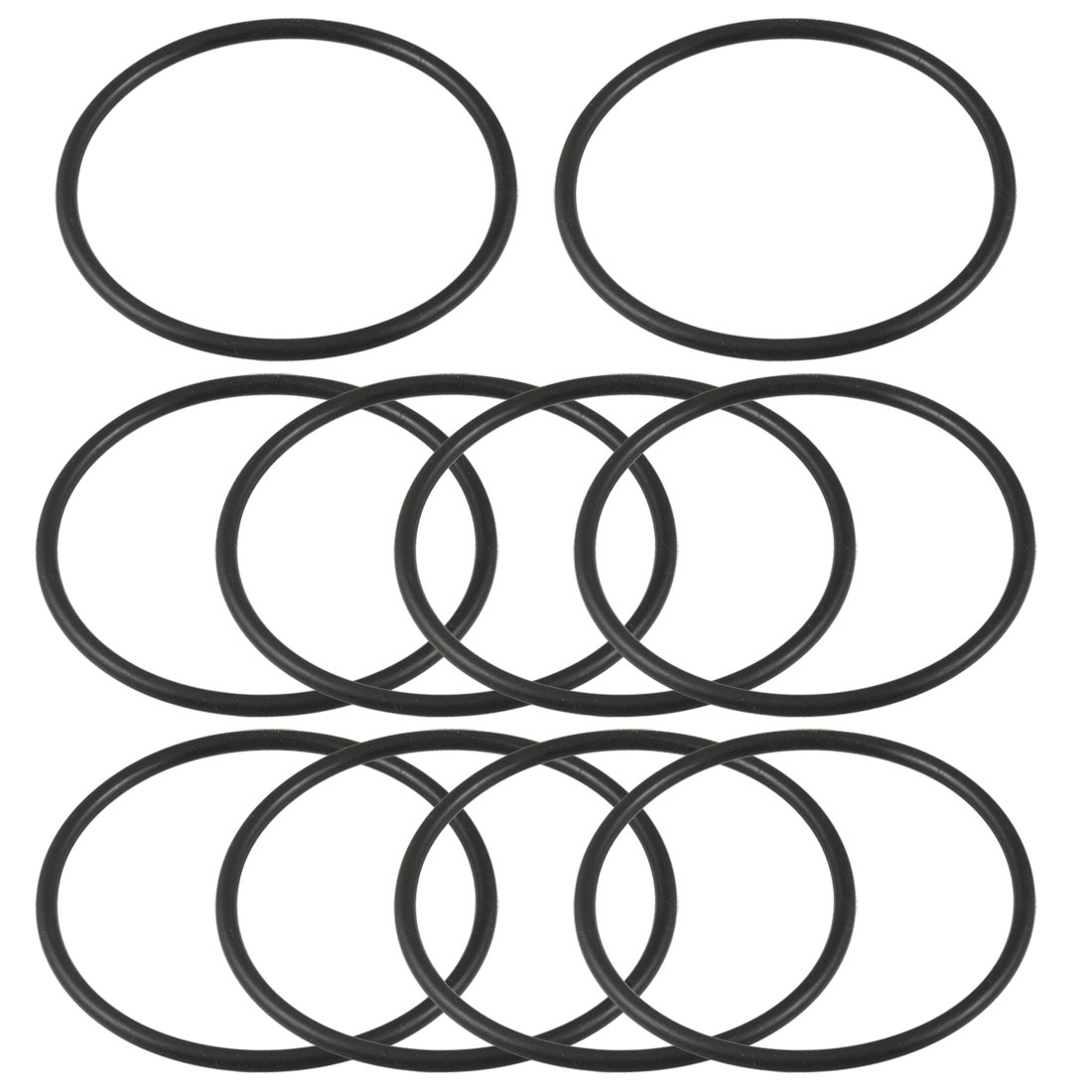 Unique Bargains 10 PCS 69mm x 3.1mm Rubber Sealing Oil Filter O Rings Gaskets