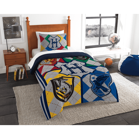 "Warner Bros.' Harry Potter, ""Bright School"" Twin Comforter Set"