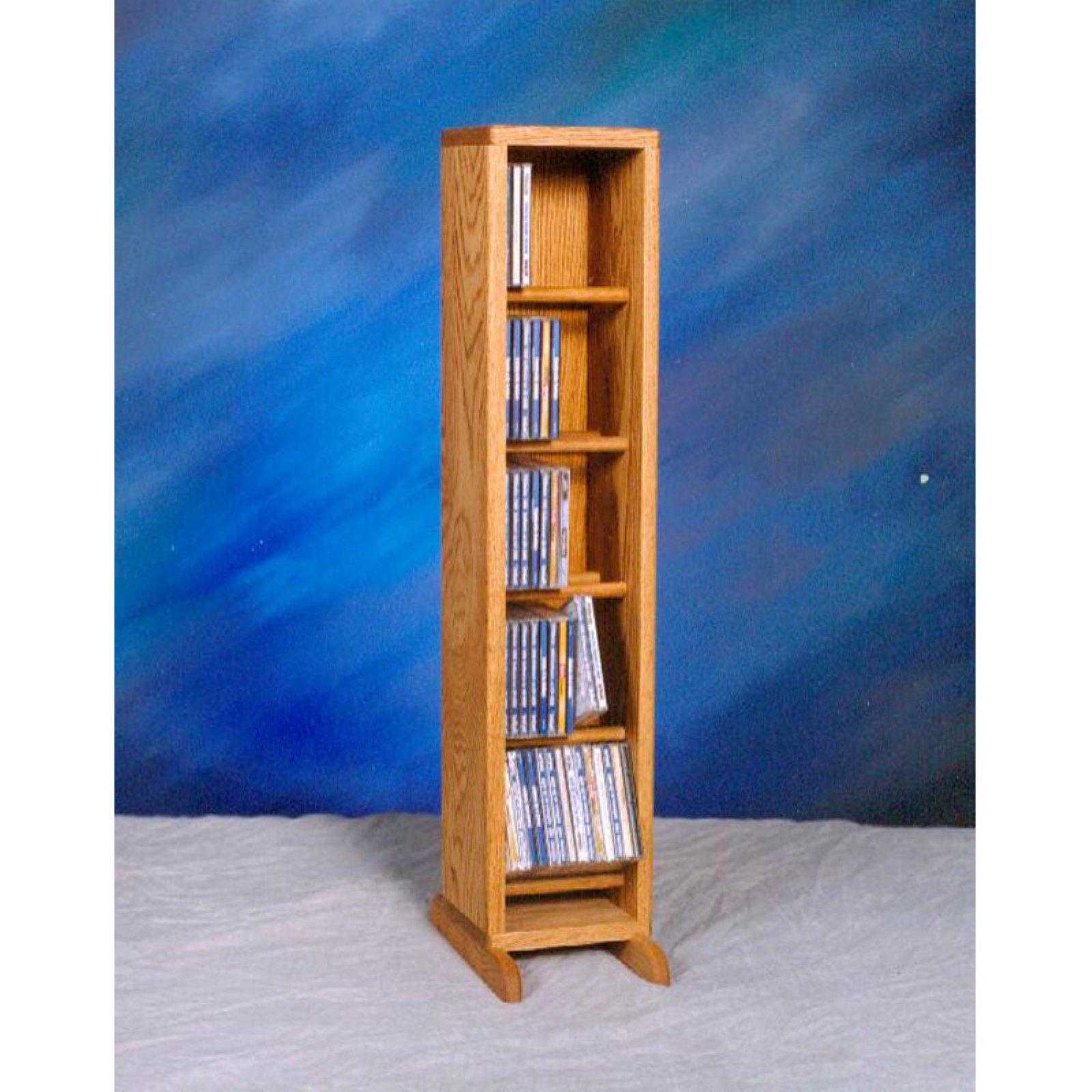 The Wood Shed Solid Oak Dowel 70 CD Media Cabinet