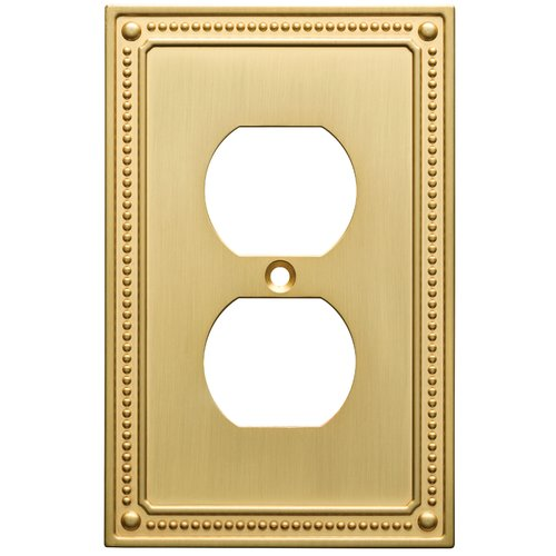 Franklin Brass Classic Beaded Single Duplex Wall Plate