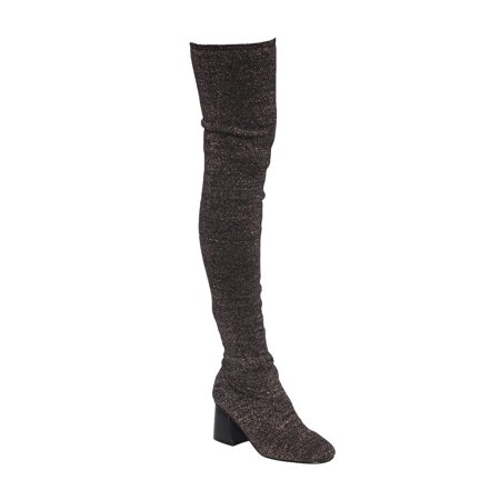 Beston Ek37 Womens Stretchy Snug Fit Sock Knitting Pull On Thigh High Boots