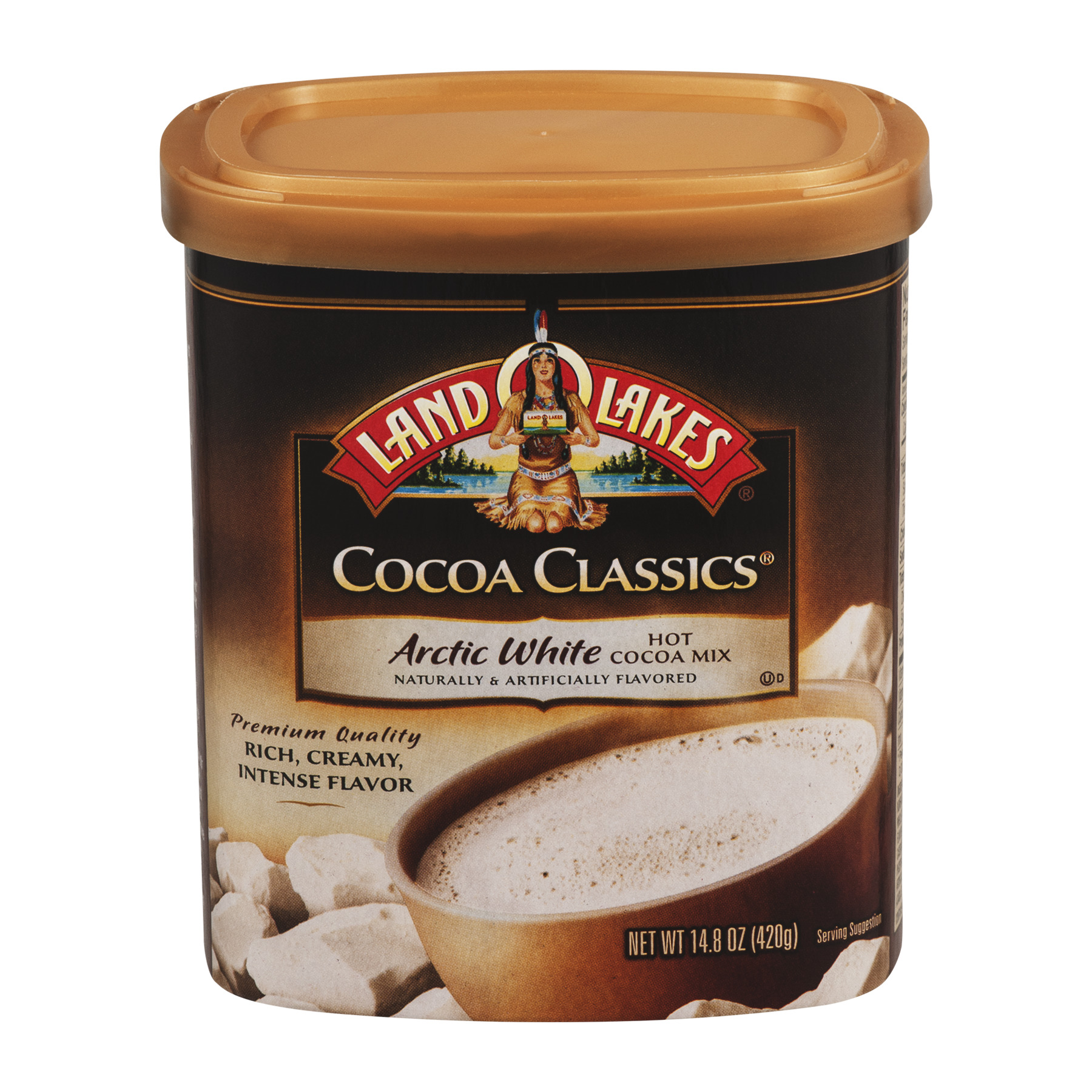 Land O'Lakes Cocoa Classics Artic White Hot Cocoa Mix, 14.8 OZ