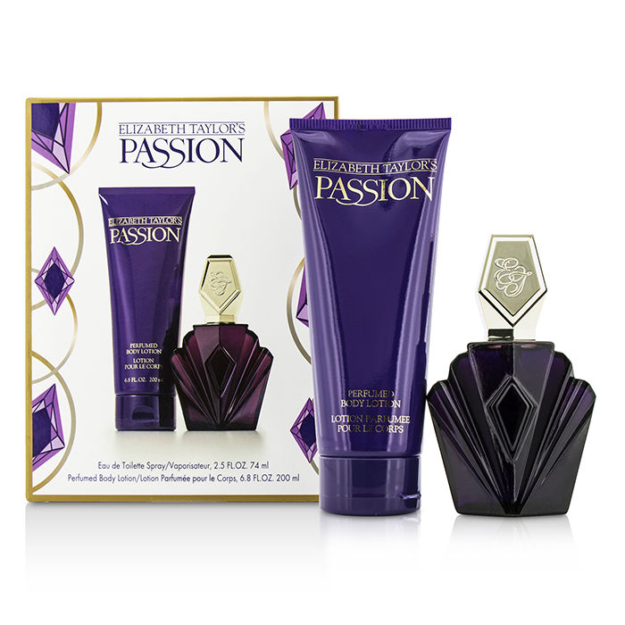 Elizabeth Taylor - Passion Coffret: Eau De Toilette Spray 74ml/2.5oz + Body Lotion 200ml/6.8oz - 2pcs
