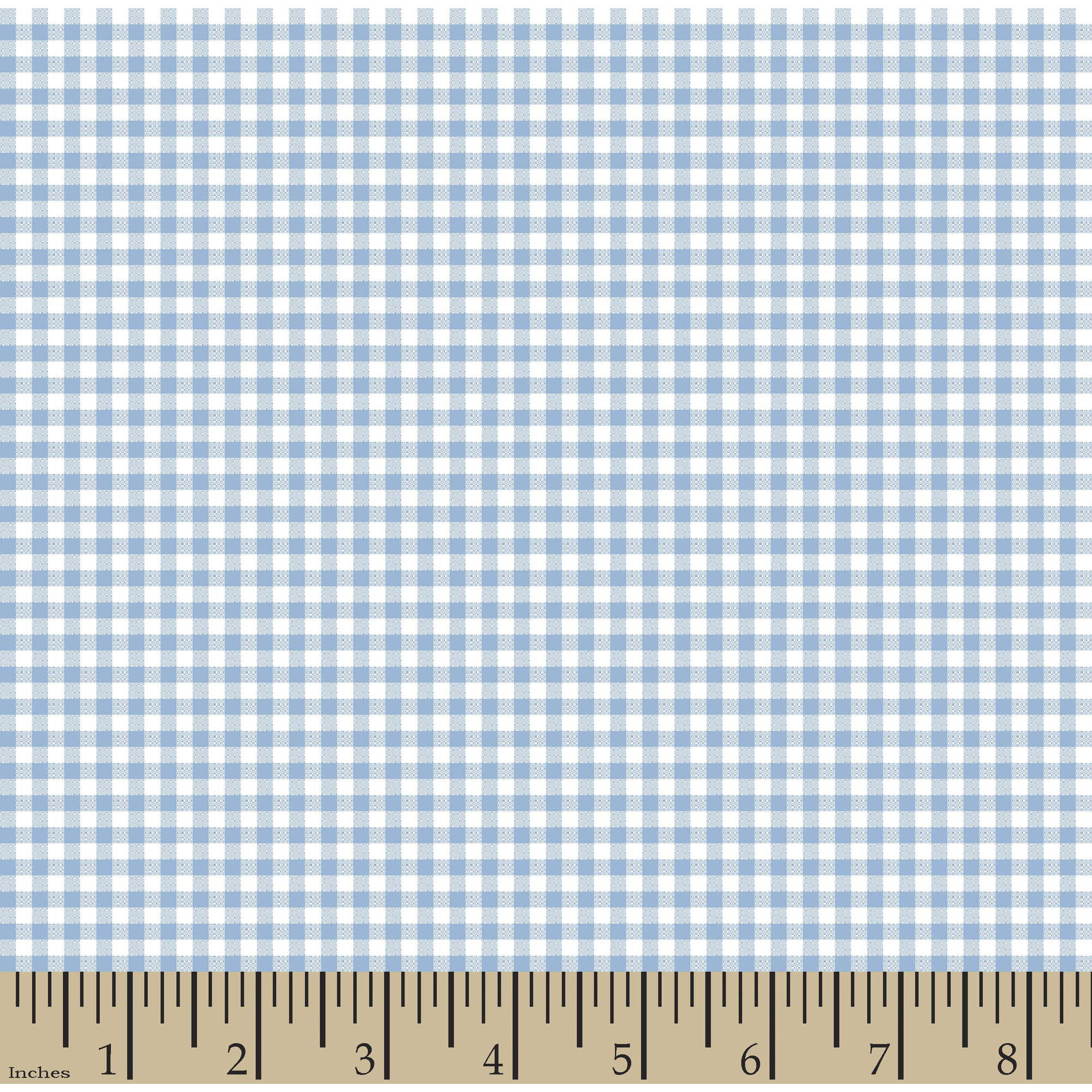 "Woven Gingham Check 1/8"" 65/35 Poly/Cotton Fabric by the Yard, Powder Blue, 44/45"" Width"