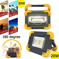 Waterproof 20W/30W Portable COB LED Work Light USB Rechargeable Outdoor Camping Lamp