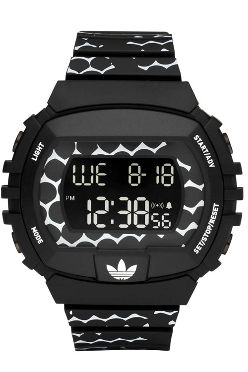Adidas ADH6118 Originals NYC Black Rubber Bracelet with 50mm Digital Watch NIB by Adidas