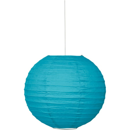 Round Paper Lantern, 10 in, Teal, 1ct
