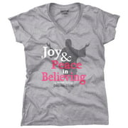 Joy Christian Shirt | Peace Sign Jesus Christ God Savior Hope Junior V-Neck Tee