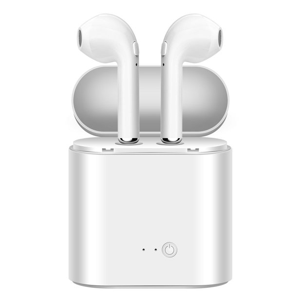 Bluetooth Earbuds Wireless In Ear Headphones Hands Free Noice Cancelling Headset With Portable Charger For Iphone X 8 Walmart Com Walmart Com