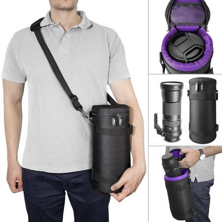 Deluxe Camera Lens Case by Altura Photo DSLR Camera Lens Storage Bag / Pouch for Large Telephoto Lenses (For Canon, Nikon, Sigma & more)