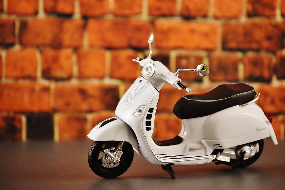 canvas print motor scooter vehicle vespa retro roller. Black Bedroom Furniture Sets. Home Design Ideas