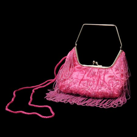 Stylish Fushia Women Shoulder Bag - Elegant Beaded Sequin Design PS3150FUSHIA - Beaded Purse Designs