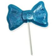 Giant Blue Glitter Bow Tie Lollipop 4.5 oz.: 6 Count